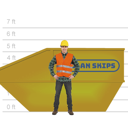 skip hire 14 yard high side