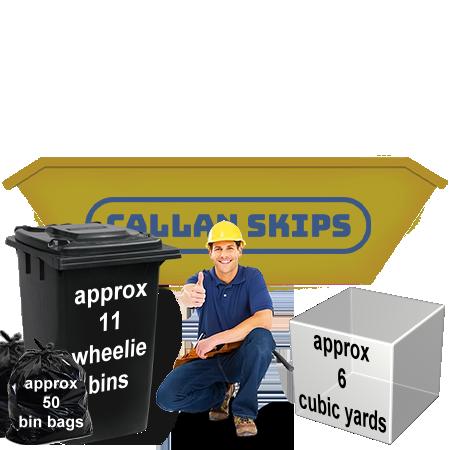 standard skip hire 6 yard capacity